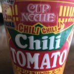 これは辛い(>_<)カップヌードル『チリチリチリトマト』🍴